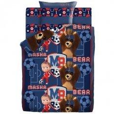 Детское постельное белье Маша и Медведь Команда (бязь-люкс)