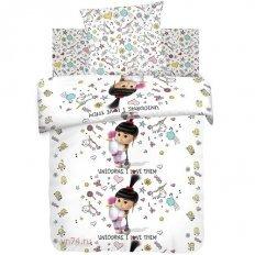 Детское постельное белье Миньоны Агнес с единорогом (бязь-люкс)