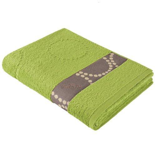 Полотенце махровое Aquarelle Таллин круги травяной
