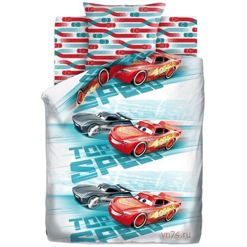 Детское постельное белье Тачки Высокая скорость (бязь-люкс)