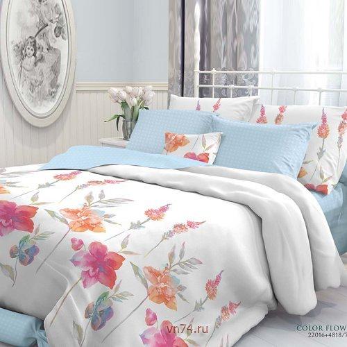 Постельное белье Verossa Constante Color Flowers (перкаль)