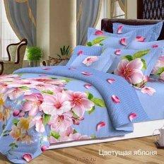Постельное белье De Luxe Цветущая яблоня (сатин)