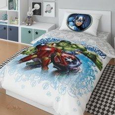 Детское постельное белье Marvel Халк и Железный человек (поплин)