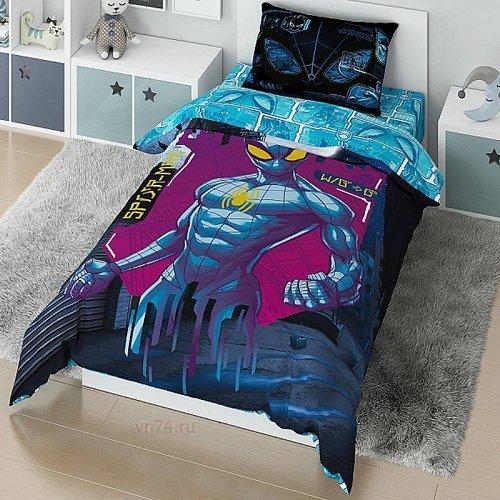 Детское постельное белье Marvel Spidermen matrix (поплин)