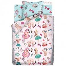 Детское постельное белье For You Свинки модницы (бязь-люкс)