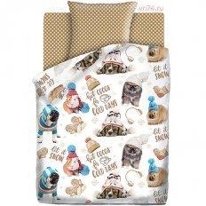Детское постельное белье For You Зимние животные (бязь-люкс)