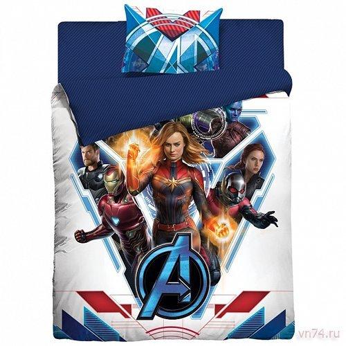 Детское постельное белье Marvel Супергерои Avengers 4 (поплин)