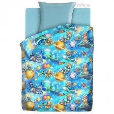 Детское постельное белье Непоседа Астронавты (бязь-люкс)