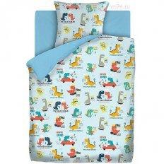Детское постельное белье Непоседа Динозаврики (бязь-люкс)