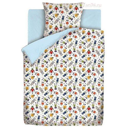 Детское постельное белье Непоседа Роботы (бязь-люкс)