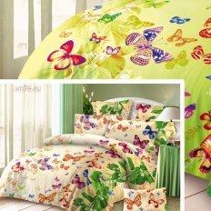 Постельное белье Эльфина Счастье бабочек беж (бязь-люкс)