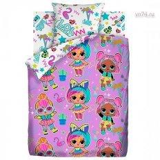 Детское постельное белье LOL Surprise Glow (поплин)