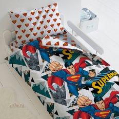 Детское постельное белье SuperMan 16336 (поплин)