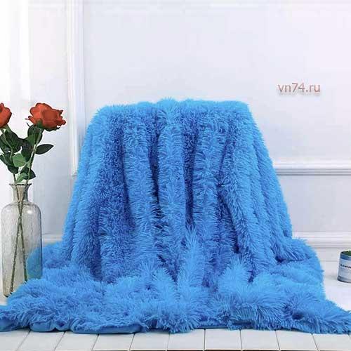Плед из меха Trender голубой евро 220x240