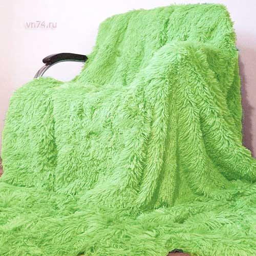 Плед из меха Trender зеленый евро 220x240