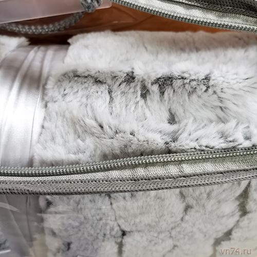 Плед из меха кролика на подкладке евро 220x240