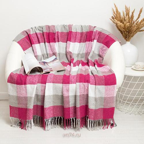 Плед из натуральной новозеландской шерсти Palermo Pink