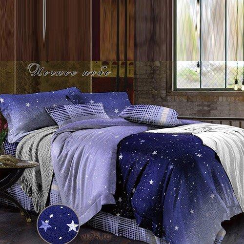 Постельное белье Bella Vita Premium Ночное небо (поплин)