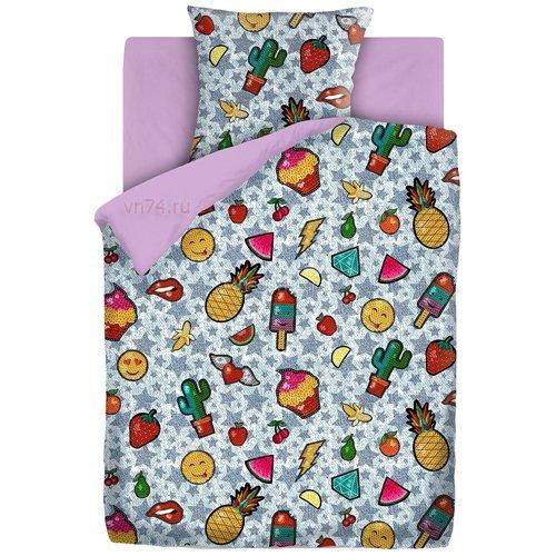 Детское постельное белье For You Лиловый Джинса (бязь-люкс)
