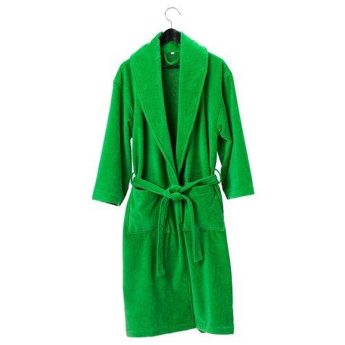 Халат махровый зеленый (хлопок)