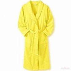 Халат махровый желтый (хлопок)