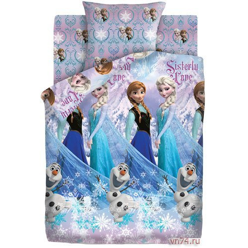 Детское постельное белье Холодное сердце - Сёстры и Олаф (бязь-люкс)