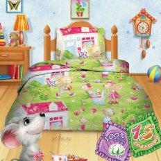 Детское постельное белье Кошки-мышки Мышата (бязь-гост)