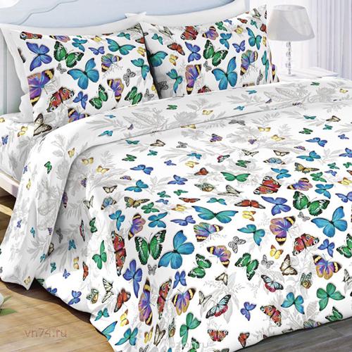 Постельное белье Любимый дом Бабочки (бязь-гост)