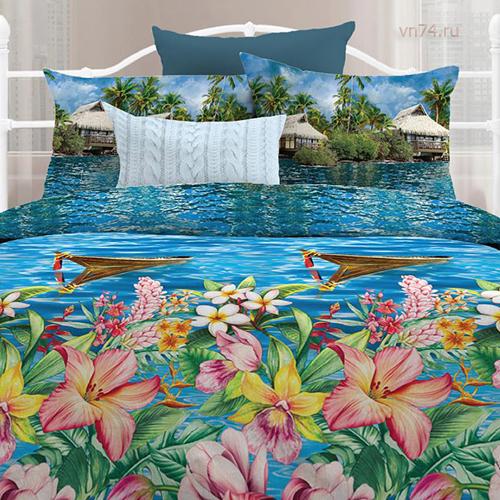 Постельное белье Любимый дом Тропики (бязь-гост)