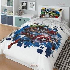 Детское постельное белье Marvel Супергерои Avengers (поплин)