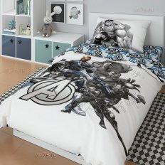 Детское постельное белье Marvel Супергерои Avengers black (поплин)