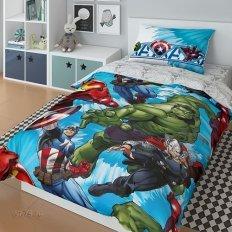 Детское постельное белье Marvel Супергерои Avengers sky (поплин)
