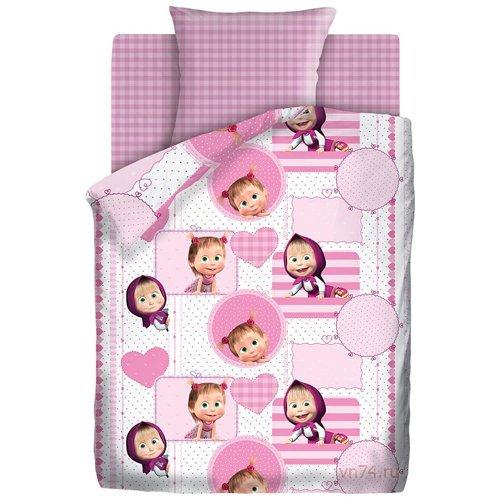 Детское постельное белье Маша и Медведь Милая Маша (бязь-люкс)