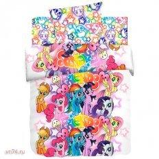 Детское постельное белье My little Pony Neon Граффити (поплин)