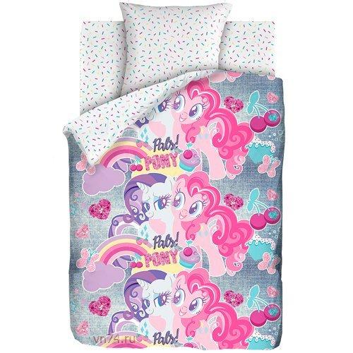 Детское постельное белье My little Pony Neon Подружки пони (бязь-люкс)