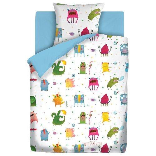Детское постельное белье Непоседа Монстрики (бязь-люкс)