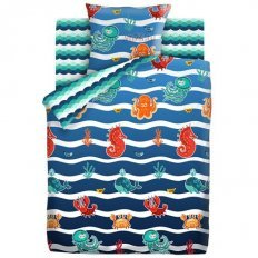 Детское постельное белье Непоседа Морские обитатели (бязь-люкс)