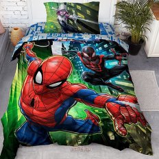 Детское постельное белье Marvel Spiders панно (поплин)