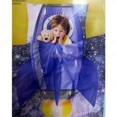 Детское постельное белье Полет в космос (поплин)