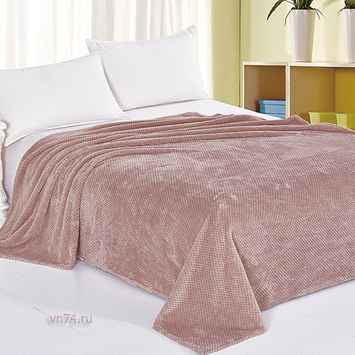 Плед велсофт Luxury Пудровый Нежный сон вид 10