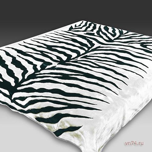 Плед - покрывало велсофт имитация зебры Mink