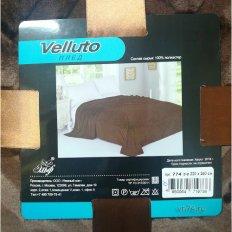 Плед велсофт Velluto Нежный сон коричневый вид 2