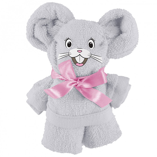 Полотенце махровое подарок Мышонок Холодный Серый
