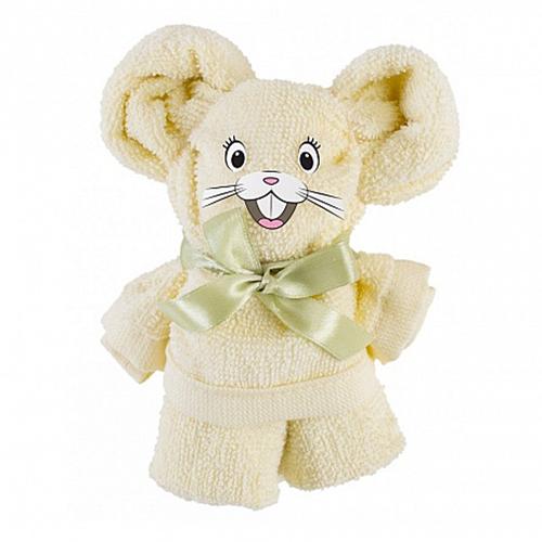 Полотенце махровое подарок Мышонок Ванильный