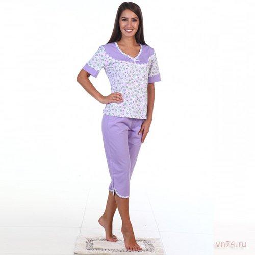 Пижама №1 фиолетовая (хлопок)