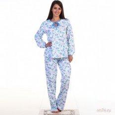 Пижама №5 василёк (хлопок)