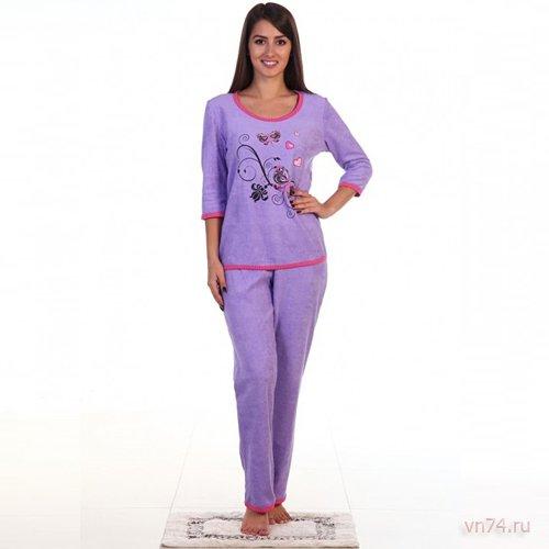 Пижама №9 фиолетовая (махра)