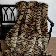 Плед из меха тигра Trender евро 200x220