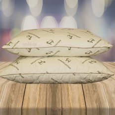 Подушка овечья шерсть со съемным чехлом Эльф (хлопок)