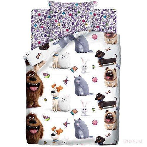 Детское постельное белье Тайная жизнь домашних животных Домашние питомцы (поплин)